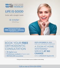 Free Invisalign orthodontics consultation - limited time offer