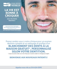 Promotion de blanchiment dentaire - Bienvenue à nos nouveaux patients