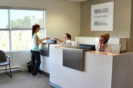 Réception de la Clinique dentaire dans l'ouest de l'île de Montréal