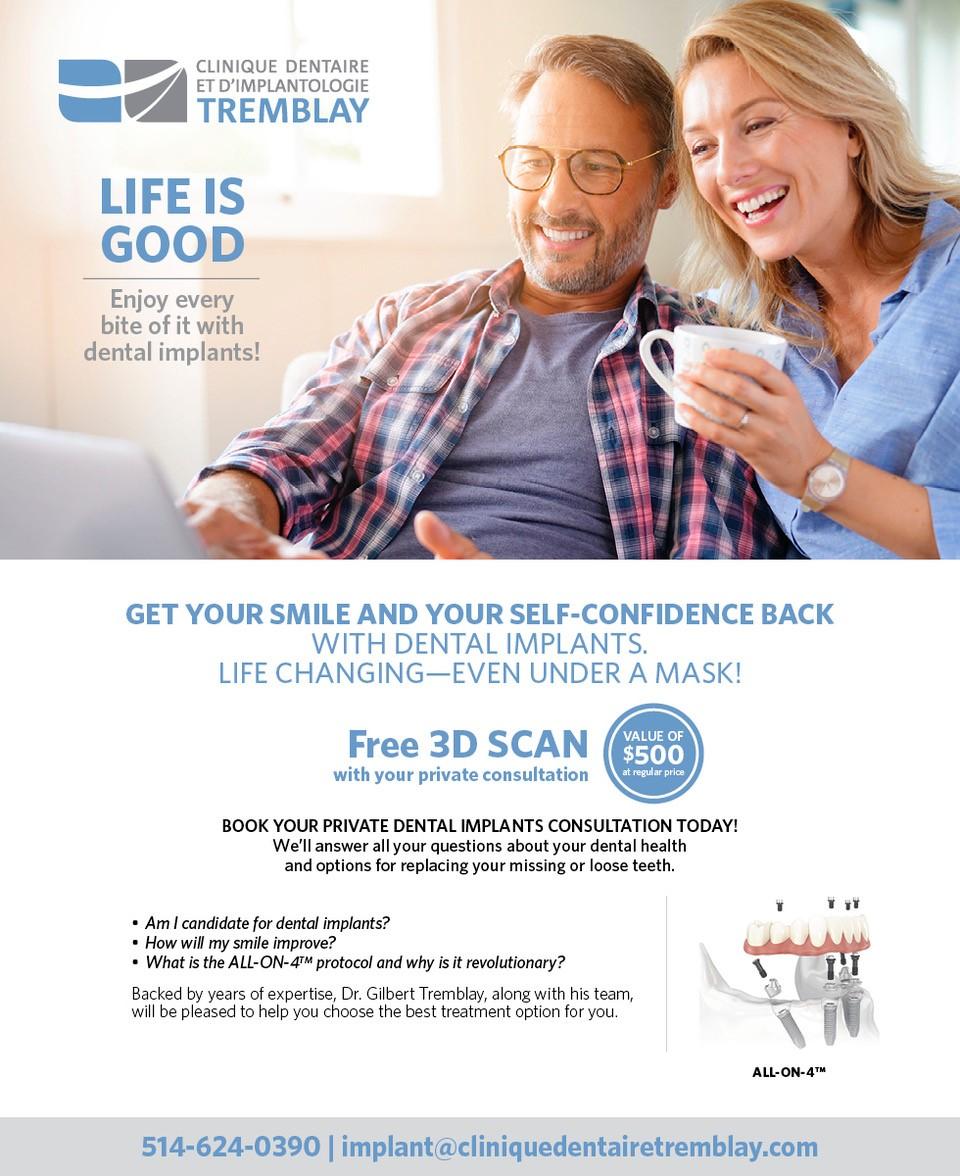 Promotion for dental implants
