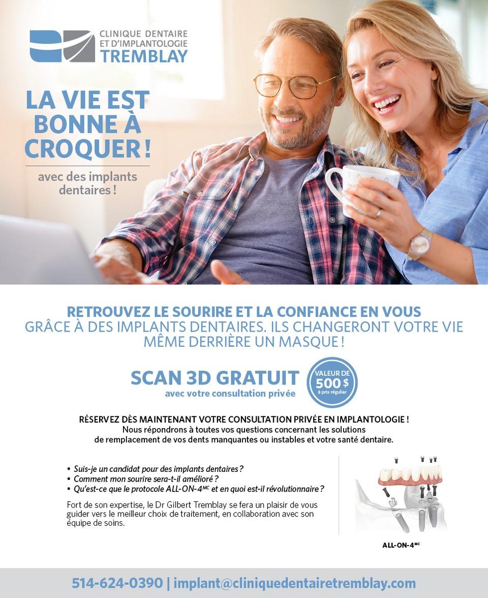 Promotion pour les implants dentaires